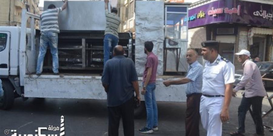 """حملة أمنية مكبرة بشارعي """"إسماعيل صبري  - أبو وردة """" بدائرة الجمرك في الإسكندرية"""