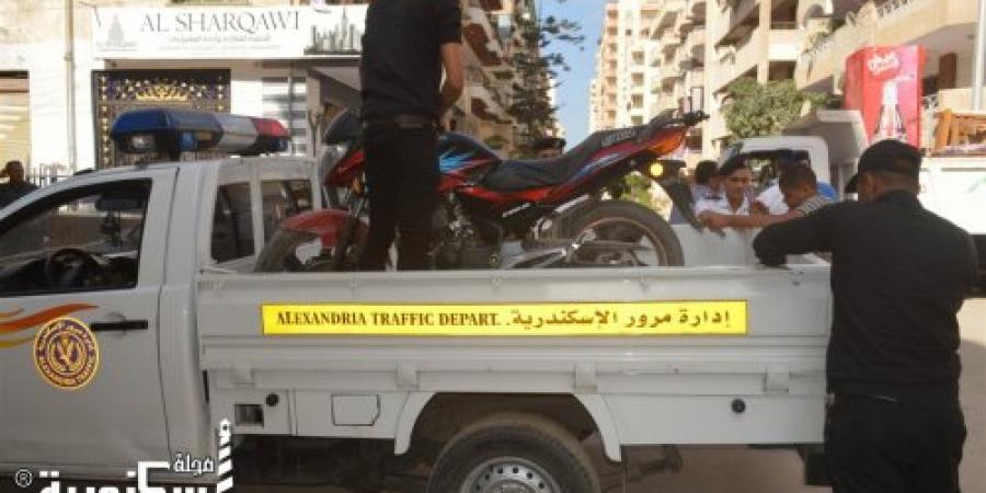 حملة أمنية بمنطقة الكيلو 21 - دائرة أول العامرية بالإسكندرية في ضوء تفعيل التواجد الشرطي الميداني بكافة صوره