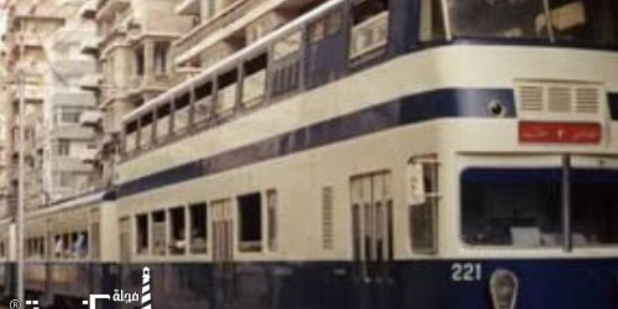 خروج عجلات ترام الرمل عن القضبان بمحطة سبورتنج في الإسكندرية
