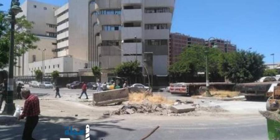 """""""استجابة المواطنين"""" إزالة الحواجز من أمام مديرية أمن الإسكندرية"""