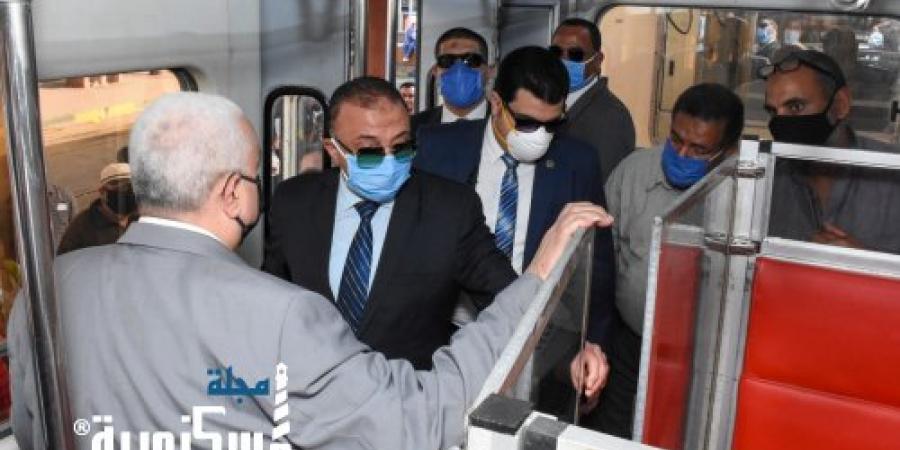 محافظ الإسكندرية يتفقد تجربة ترام المدينة لضمان سلامة المواطنين من كورونا